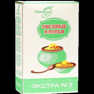 """Хлопья овсяные """"ЭКСТРА N3"""" РБ 500 г"""