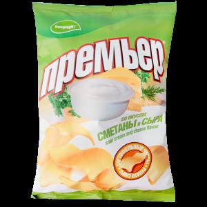 """Чипсы """"ПРЕМЬЕР"""" (сметана/сыр) РБ 70 г"""