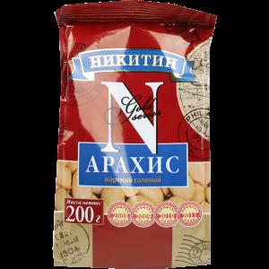 """Арахис """"НИКИТИН"""" (жареный) 200г"""