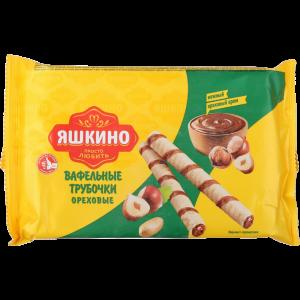 """Труб.вафельные """"ЯШКИНО ОРЕХОВЫЕ"""" 190гр"""