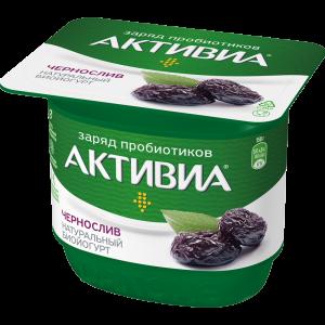 """Йогурт""""АКТИВИА""""стак(черносл)2.9% РФ 150г"""