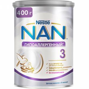"""Смесь """"НАН 3"""" (гипоаллерген.сухая) 400 г"""