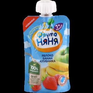 """Десерт """"ФРУТОНЯНЯ"""" (ябл/банан/клубн) 90г"""
