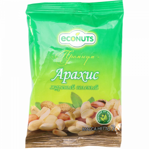 "Арахис ""ECONUTS""(жар.соленый)70 г"