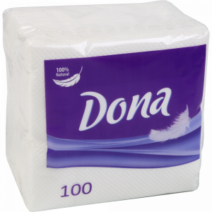 "Салфетки бумажн.""DONA""(белые) 100шт"