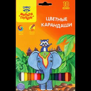 """Карандаши """"ЕНОТ В ИНДИИ"""" (18цв."""