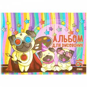 """Альбом для рисования """"СОБАКИ""""(А1615"""