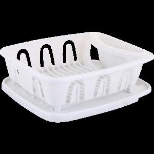 Сушилка для посуды с поддоном(бел)