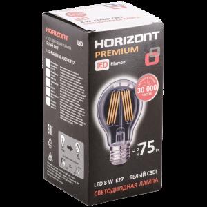 """Лампа светод""""HORIZONT""""(A60 8W 4000K E27)"""