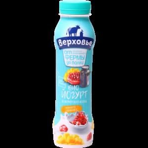 """Биойогурт""""ВЕРХОВЬЕ""""(2%манго-гранат)290г"""
