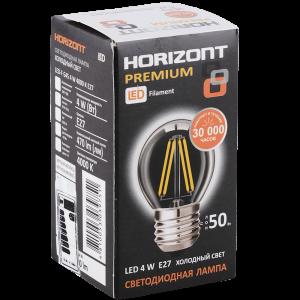 """Лампа светод""""HORIZONT""""(G45 4W 4000К Е27)"""