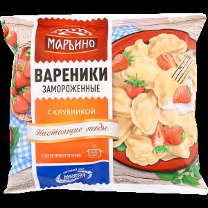 "Вареники ""МАРЬИНО"" (клубника) РБ 400г"