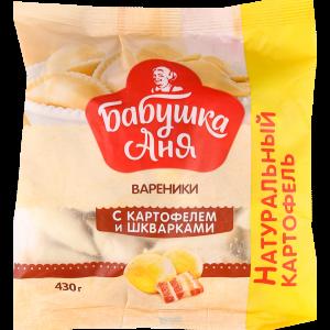 """Вареники""""БАБУШКА АНЯ""""(карт./шкварки)430г"""