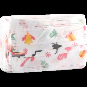 Маска на резинке (детская с принтом)50шт